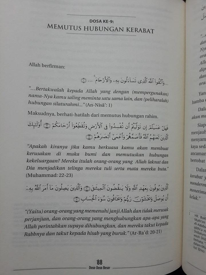 Buku Al-Kabair Dosa Dosa Besar Isi