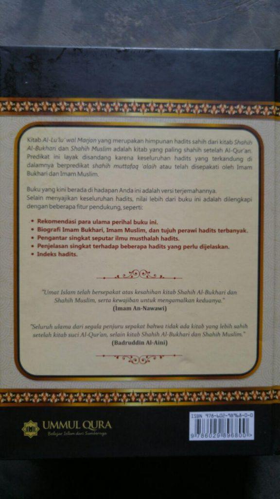 Buku Al-Lu'Lu' Wal Marjan Mutiara Hadis Sahih Bukhari Muslim cover 2