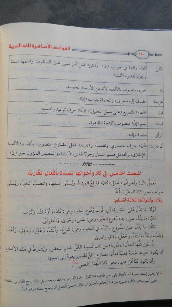 Kitab Al-Qowa'id Al-Asasiyah Lilughat Al-Arabiyah isi