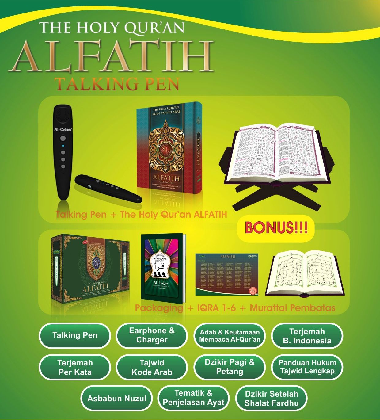 Al-Quran Al-Fatih Plus Talking Pen Fitur