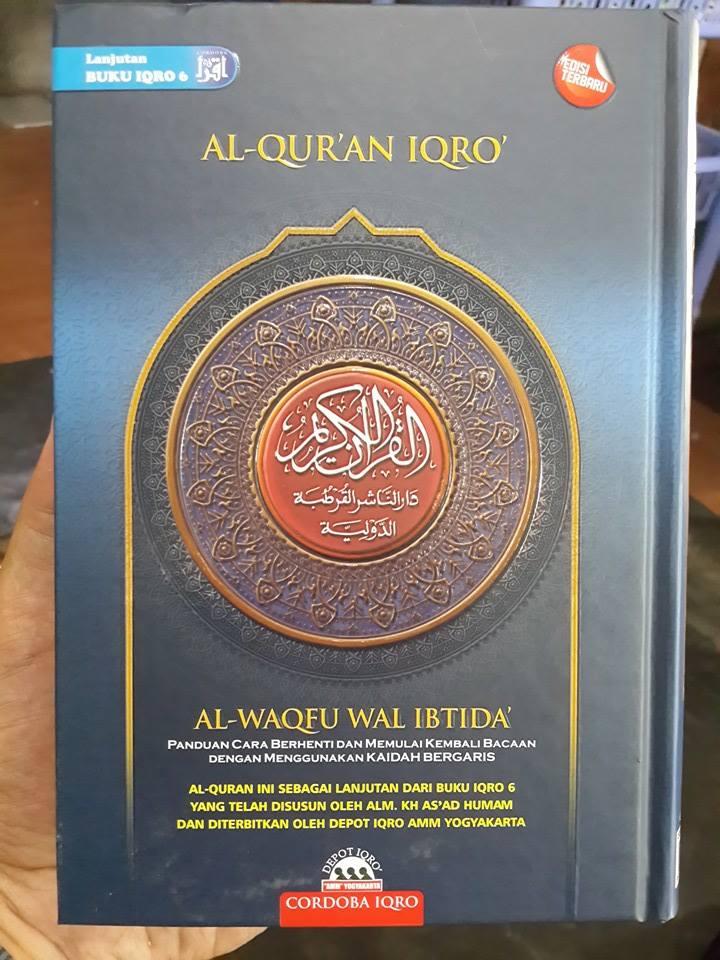 Al-Qur'an Iqro Al-Waqfu Wal Ibtida Ukuran A5 Cover