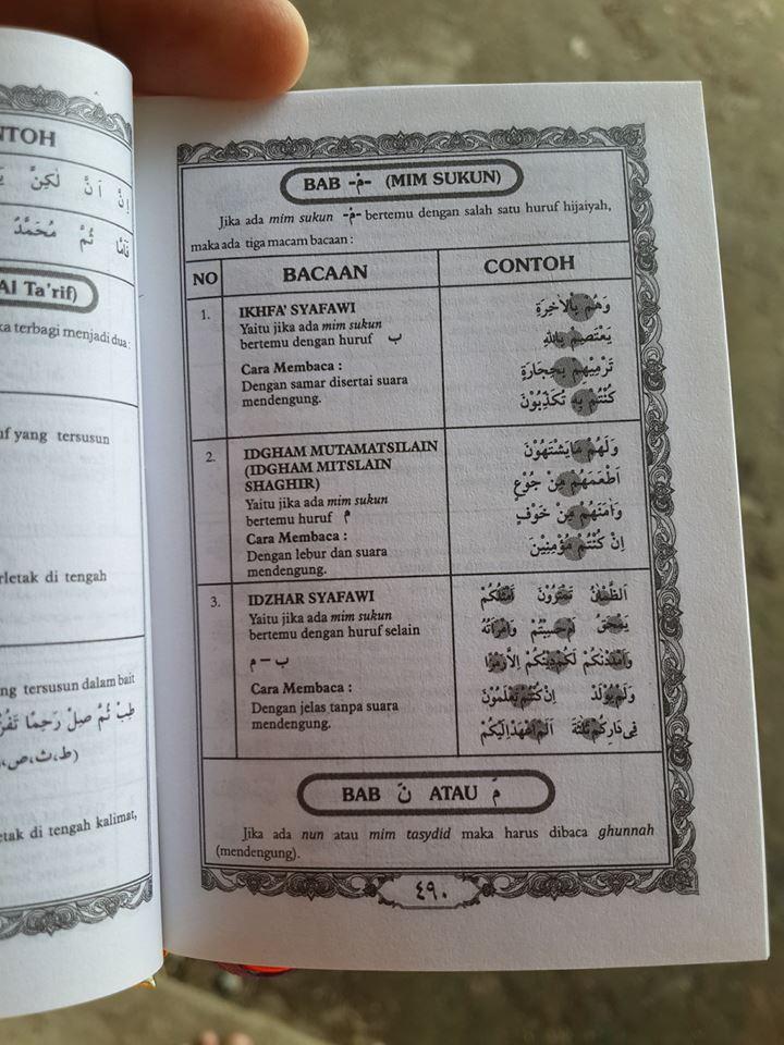 Al-Qur'an Saku Dan Ilmu Tajwid Ma'sum Isi 2