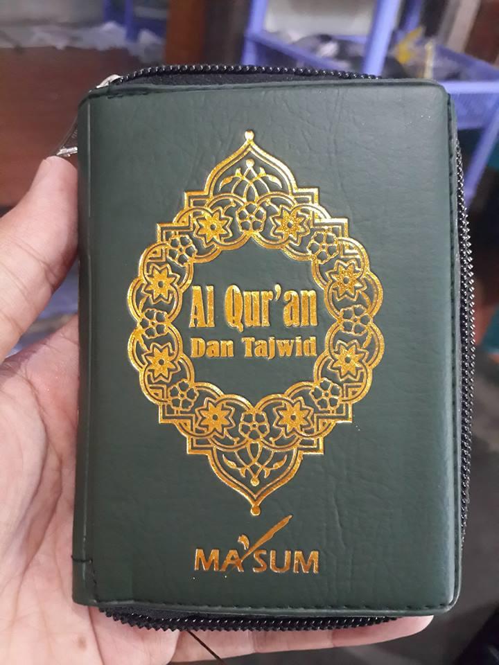 Al-Qur'an Saku Dan Ilmu Tajwid Resleting Ma'sum Cover