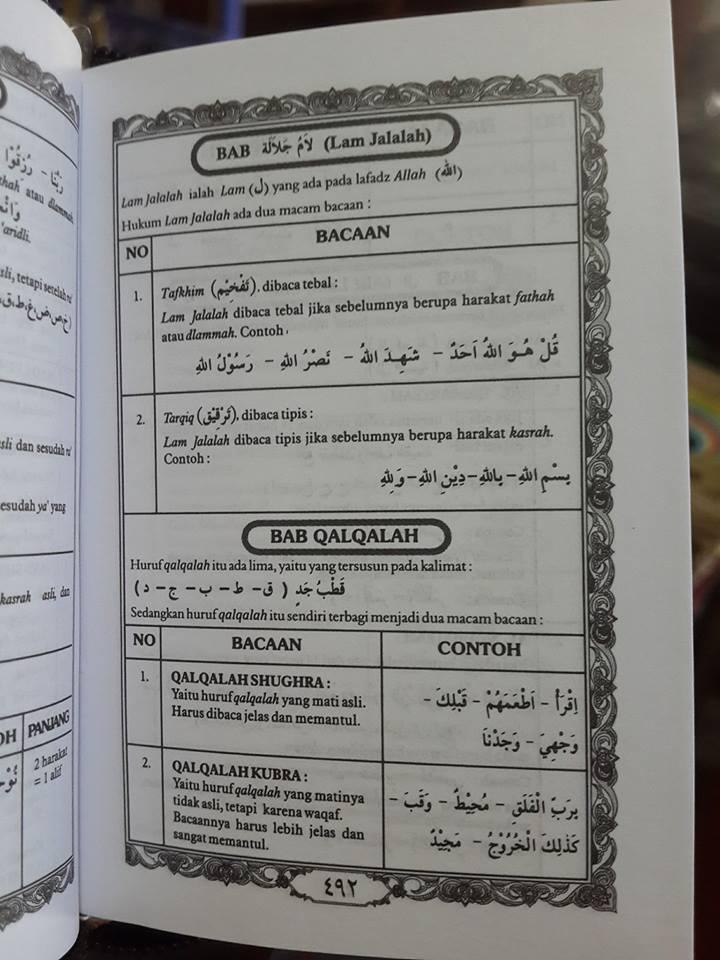 Al-Qur'an Saku Dan Ilmu Tajwid Resleting Ma'sum Isi 2