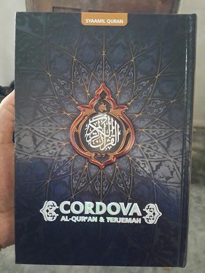 Al-Qur'an Syaamil Terjemah Versi Cordova Ukuran A5 Cover