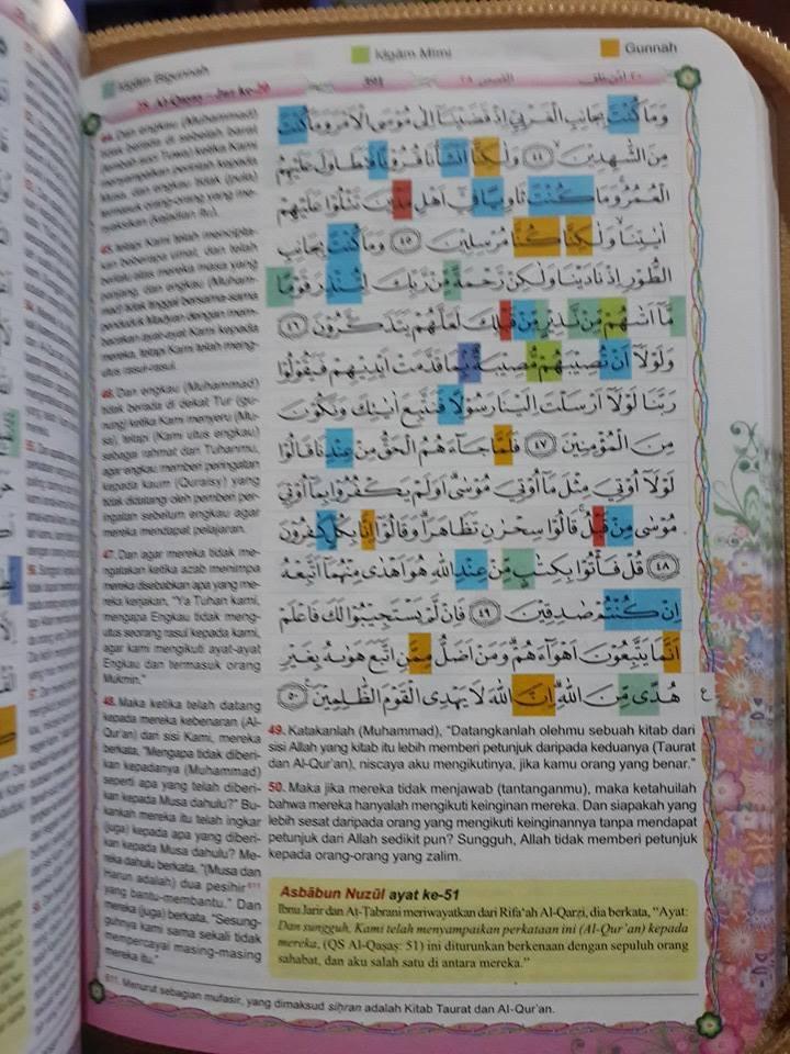 Al-Quranku Dengan Tajwid Blok Warna Muslimah Isi