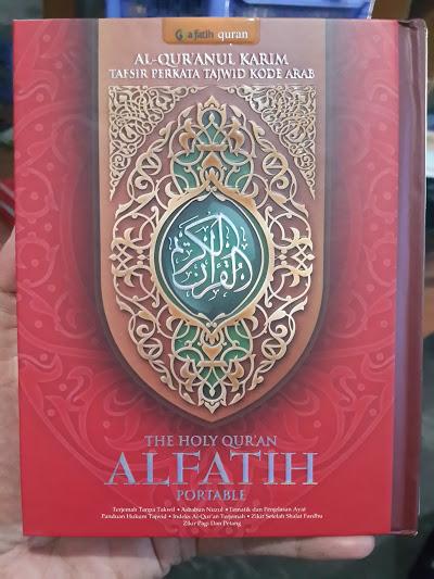 Al-Qur'anul Karim Tafsir Perkata Tajwid Al-Fatih Portable B6 Cover
