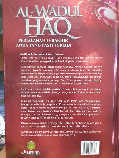 Buku Al-Wa'dul Haq Perjalanan Terakhir Yang Pasti Terjadi Cover 2