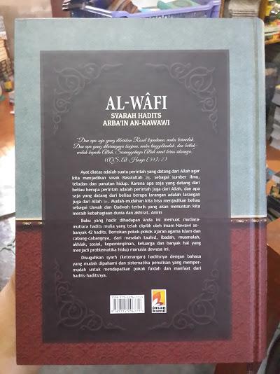 Buku Al-Wafi Syarah Hadits Arbain An-Nawawi Cover Belakang