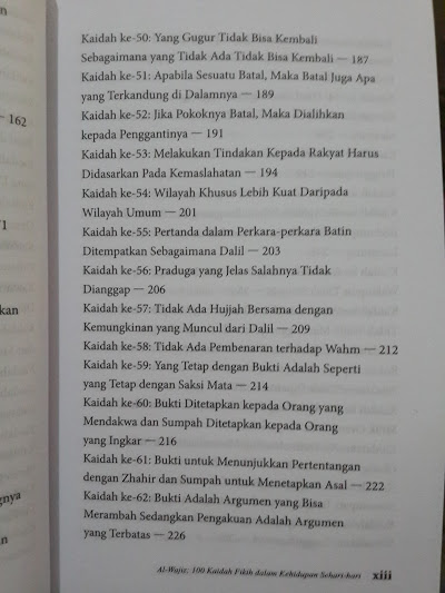 Buku Al-Wajiz 100 Kaidah Fikih Dalam Kehidupan Sehari-Hari Daftar Isi
