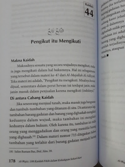 Buku Al-Wajiz 100 Kaidah Fikih Dalam Kehidupan Sehari-Hari Isi