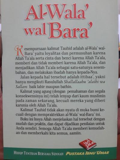 Buku Saku Al-Wala' Wal Bara' Cinta Dan Benci Karena Allah Cover 2