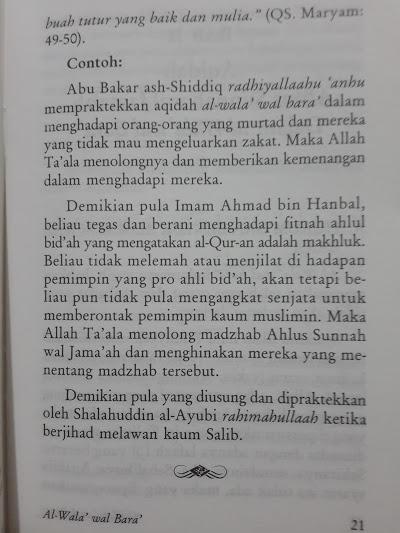 Buku Saku Al-Wala' Wal Bara' Cinta Dan Benci Karena Allah Isi