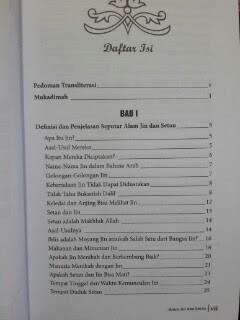 Buku Alam Jin Dan Setan Daftar Isi