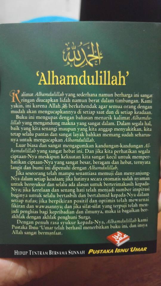 Buku Saku Alhamdulillah Dan Keutamaan Mengucapkannya cover 2