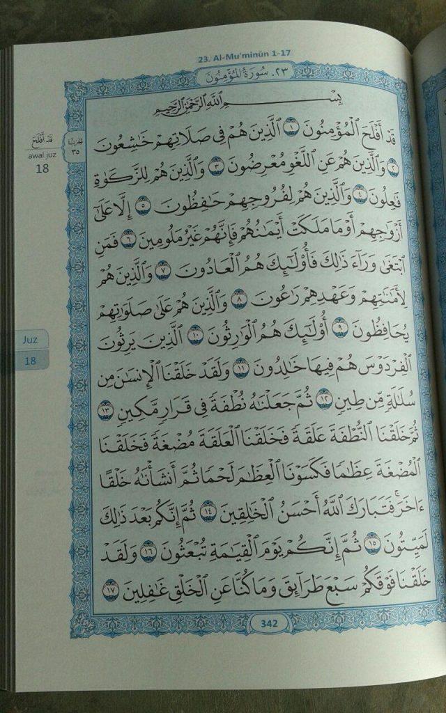 Al-Quran Al-Karim Mushaf Al-Madinah A4 isi 2
