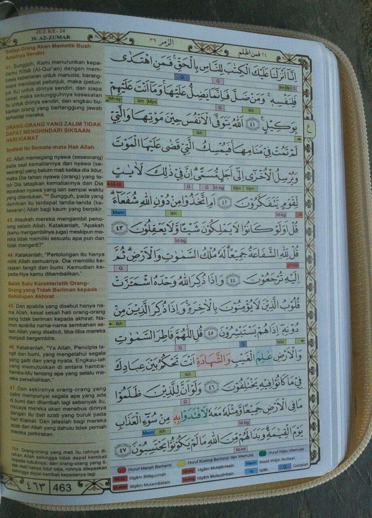 Al-Quran Mushaf Dengan Waqaf Ibtida Tajwid Blok Warna isi 2