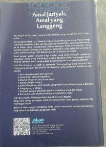 Buku Amal Jariyah Amal Yang Langgeng cover 2