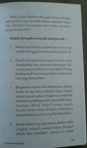 Buku Amal Jariyah Amal Yang Langgeng isi