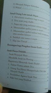 Buku Amal Jariyah Amal Yang Langgeng isi 5