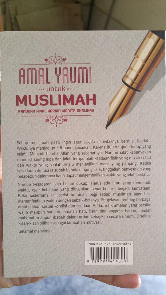 amal yaumi untuk muslimah buku cover 2