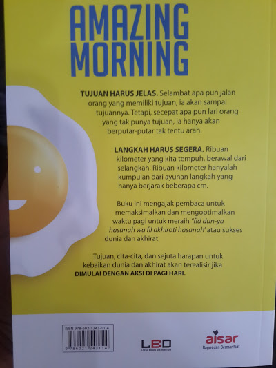 Buku Amazing Morning Cara Memanfaatkan Waktu Pagi Cover Belakang