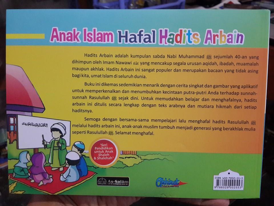Buku Anak Islam Hafal Hadist Arbain Cover 2