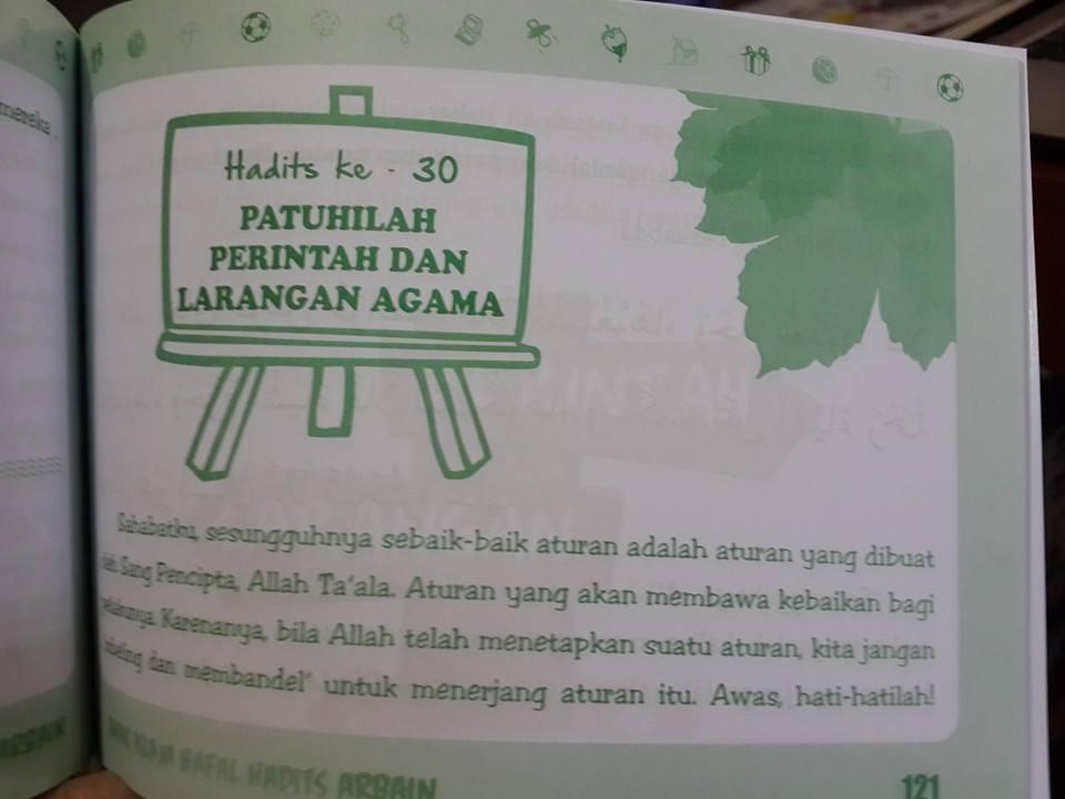 Buku Anak Islam Hafal Hadist Arbain Isi 2