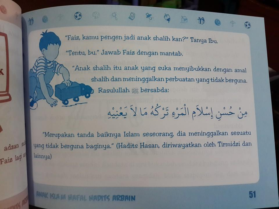 Buku Anak Islam Hafal Hadist Arbain Isi
