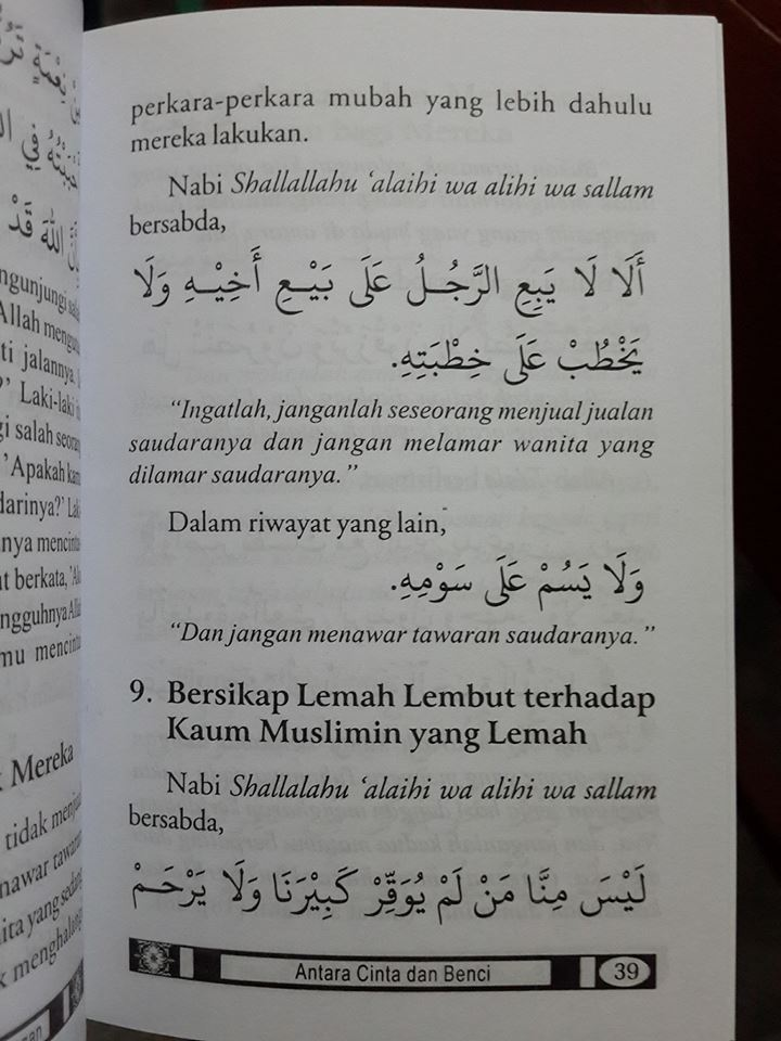 Buku Saku Antara Cinta Dan Benci Sikap Seorang Muslim isi 2