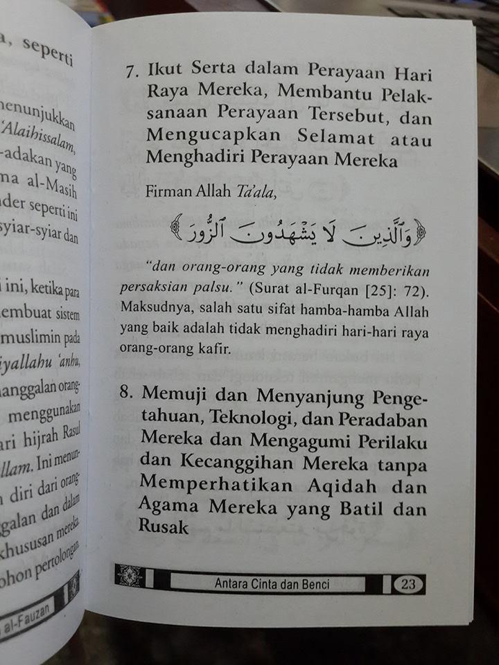 Buku Saku Antara Cinta Dan Benci Sikap Seorang Muslim isi