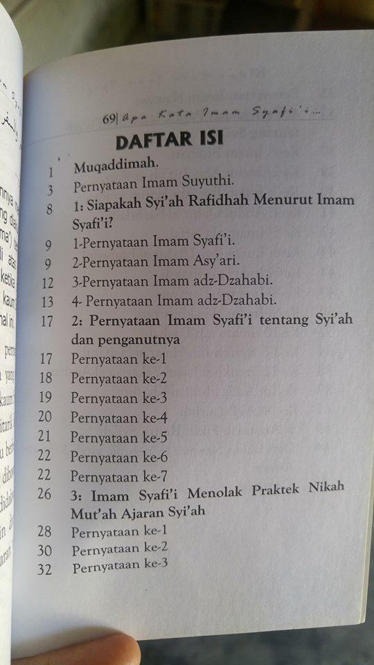 apa kata imam Syafi'i dan ulama syafi'iyyah tentang agama syi'ah buku isi 2