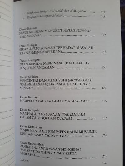 Buku Aqidah Salaf Ahlus Sunnah Wal Jama'ah Daftar Isi