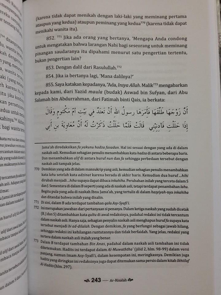 Buku Ar-Risalah Panduan Lengkap Fikih Dan Ushul Fikih Isi