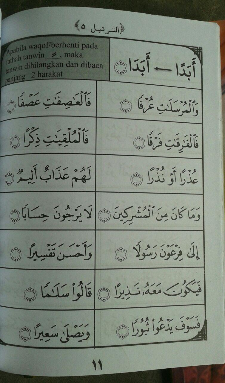 Buku At-Tartil Metode Cepat Membaca Al-Quran 1 set 3 jilid isi 2