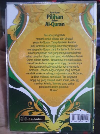Buku Saku Ayat-Ayat Pilihan Dalam Al-Qur'an Cover Belakang