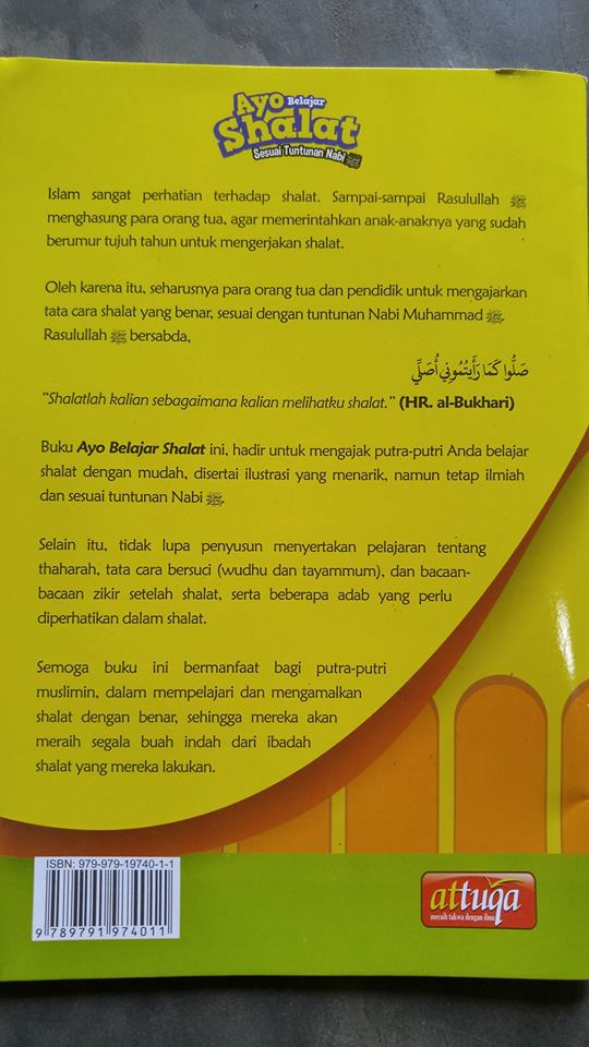 Buku Anak Ayo Belajar Shalat Sesuai Tuntunan Nabi cover 2