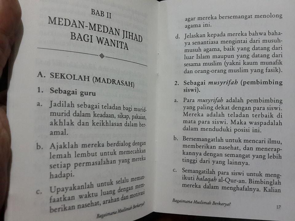 Buku Saku Bagaimana Muslimah Berkarya Isi