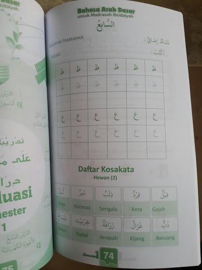 Buku Bahasa Arab Dasar Untuk Madrasah Ibtidaiyah Isi