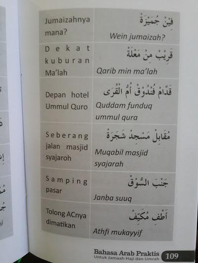Buku Bahasa Arab Praktis Untuk Jamaah Haji Dan Umrah Isi