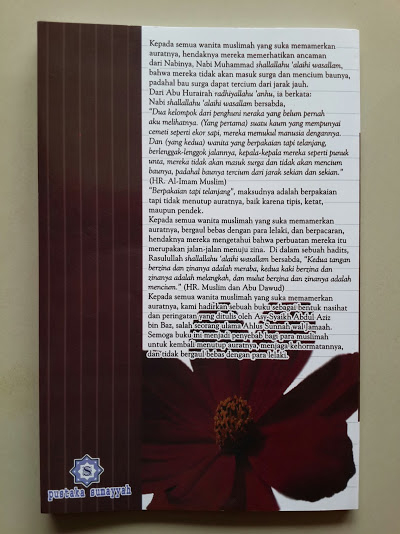 Buku Bahaya Pamer Aurat Dan Pergaulan Bebas Bagi Wanita Cover Belakang