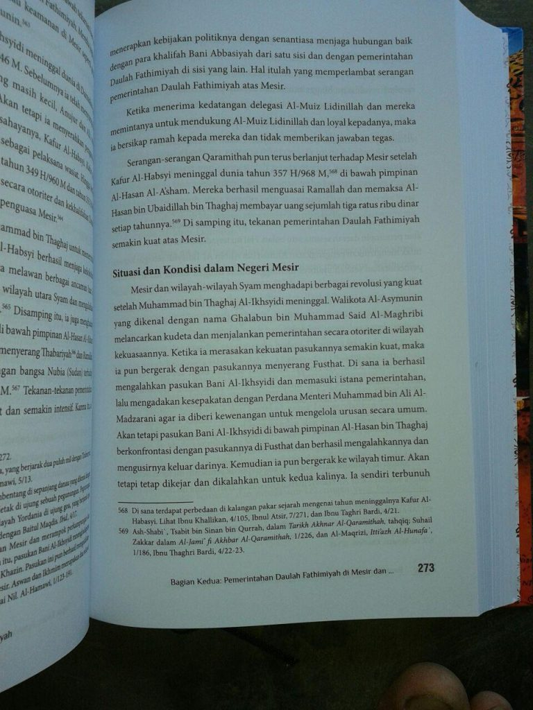 Buku Bangkit Dan Runtuhnya Daulah Fathimiyah isi 2