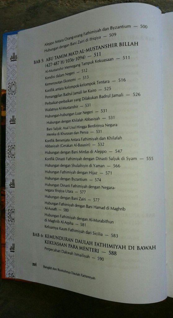 Buku Bangkit Dan Runtuhnya Daulah Fathimiyah isi