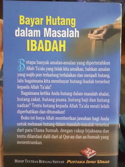 Buku Saku Bayar Hutang Dalam Masalah Ibadah Cover Belakang