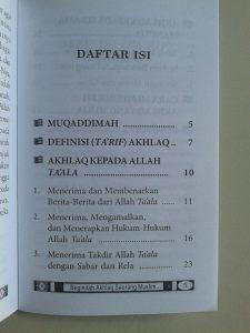 Buku Saku Beginilah Akhlak Seorang Muslim isi