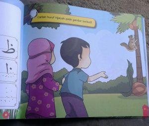 Buku Anak Belajar & Bermain Huruf Hijaiyah Mewarnai menulis isi 2