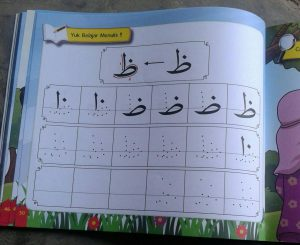 Buku Anak Belajar & Bermain Huruf Hijaiyah Mewarnai menulis isi 3