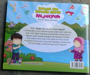 Buku Anak Belajar & Bermain Huruf Hijaiyah Mewarnai menulis cover 2