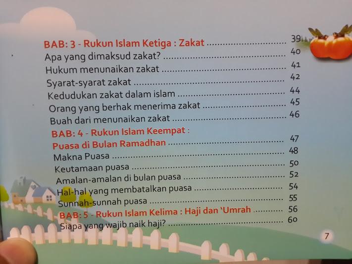 Buku Anak Belajar Mudah Rukun Islam Daftar Isi