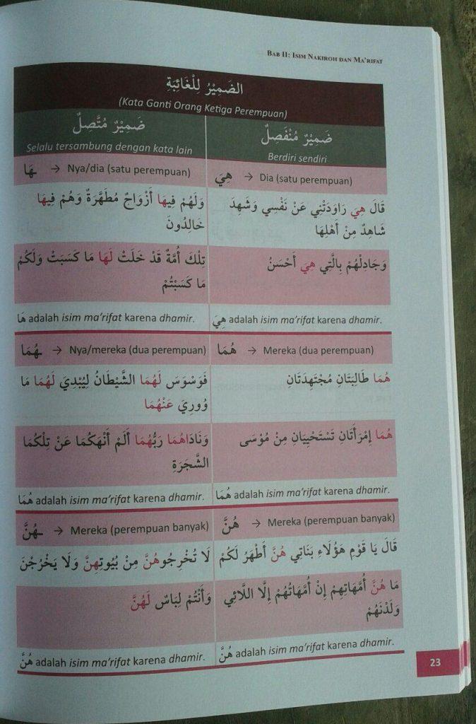 Buku Belajar Nahwu Shorof Sambil Ngaji Metode Manhaji isi 3
